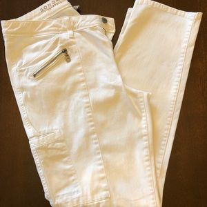 Women's slim straight pants